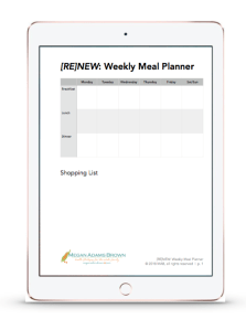 weekly meal planner preview