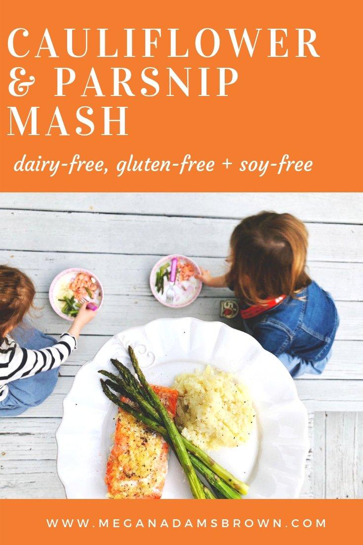 cauliflower and parsnip mash | meganadamsbrown.com