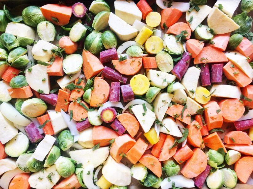 easiest roasted vegetables | meganadamsbrown.com