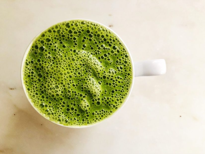 green pear warm smoothie