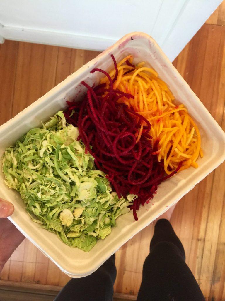 salad bar veggies