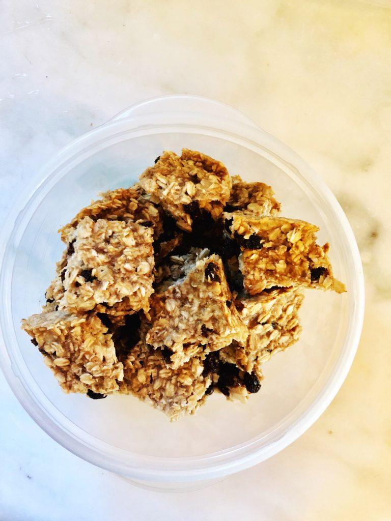 breakfast ideas - oatmeal bars