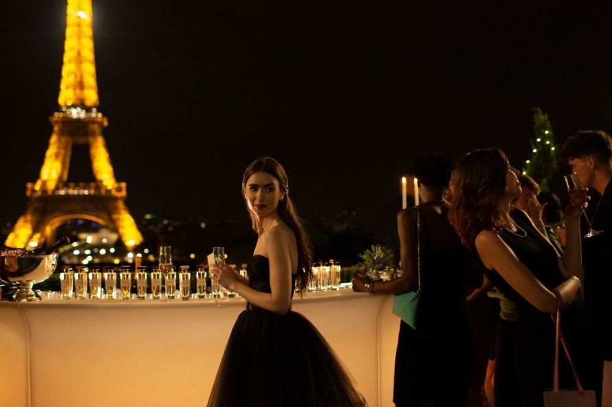 I Recreated the Emily in Paris S1: E2  Black Taffeta Strapless Dress | Masculin Féminin