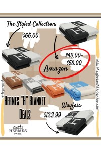 "Hermes Avalon Throw Blanket ""H"" Blanket DUPES! Amazon Exact Match $45.00"