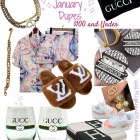 January Dupes Dior LV Hermes