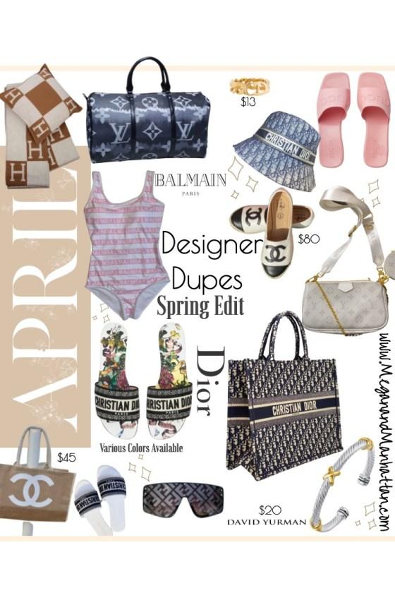 Designer Dupes for Spring and Summer Dior Oblique Dior Sandals
