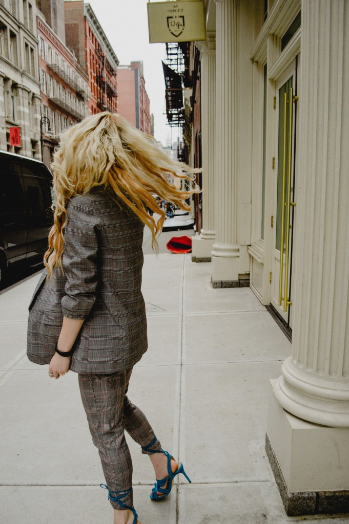 Cobblestone Streets of Soho | How to Style Ankle Strap Heels Over Pants Trending Heel Innovations like Tezza