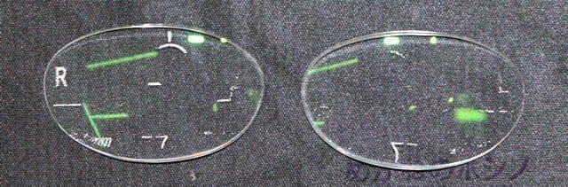 部分調節性内斜視、累進屈折力レンズ総重量 5.6g