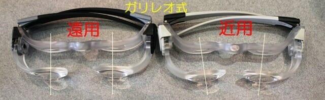 度数調節可能な遠用と近用眼鏡