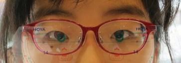 使用中の近視進行予防眼鏡