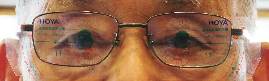 複合斜視矯正眼鏡装着