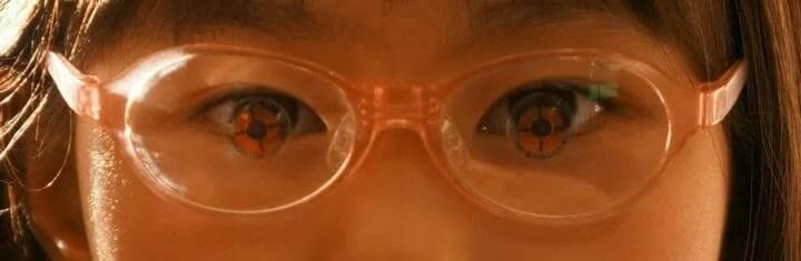レンズ光学中心と目の一致確認