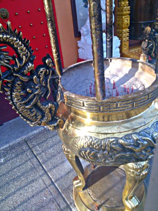 Incense burner at the Buddhist temple.