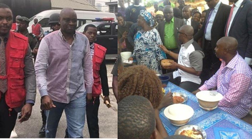 Fayose takes stomach infrastructure to EFCC, feeds over 150 detainees