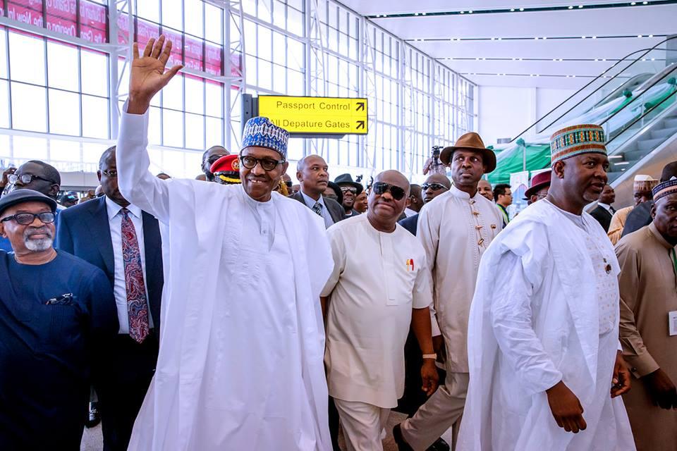 Buhari commissions new terminal at Port Harcourt Airport