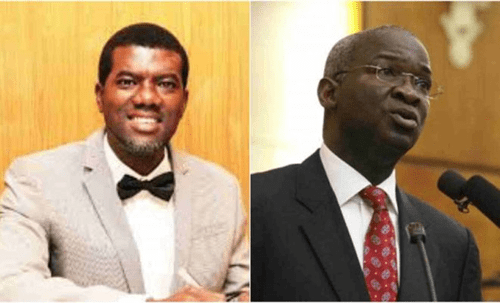 Fashola should bury his face in shame –Reno Omokri