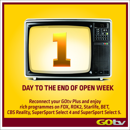 #GOtvOpenWeek: 24Hours Loaded With Quality Entertainment