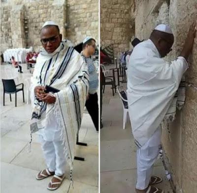 PHOTOS: Nnamdi Kanu Spotted In Jerusalem