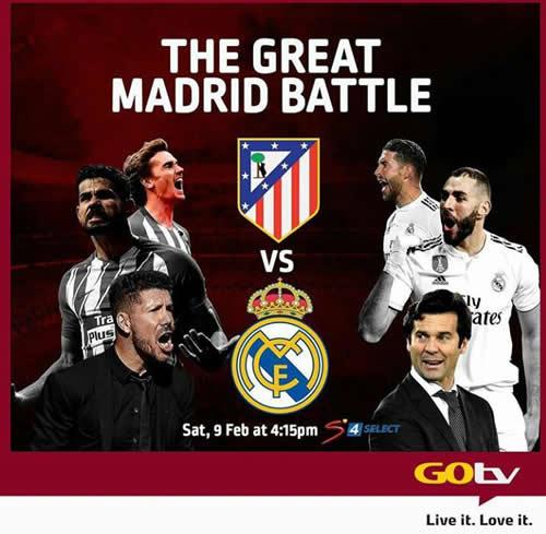 GOtv to Broadcast Madrid Derby Live