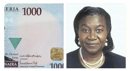 BREAKING: For the first time ever, a female signature goes on the naira