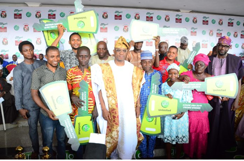 Excitement, disbelief as 10 Glo customers win Tricycles at Ojude Oba