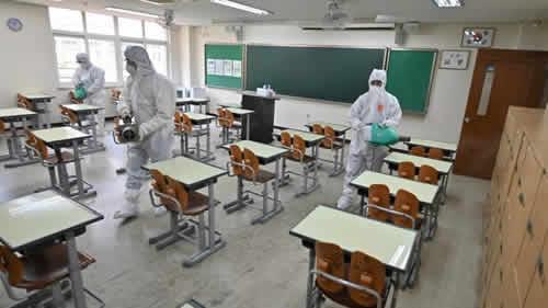 Decontamination of schools starts Tuesday