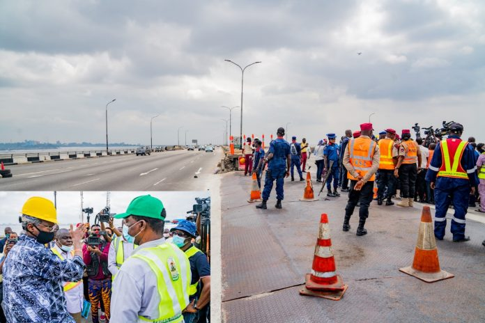 Fashola inspects Third Mainland Bridge traffic architecture