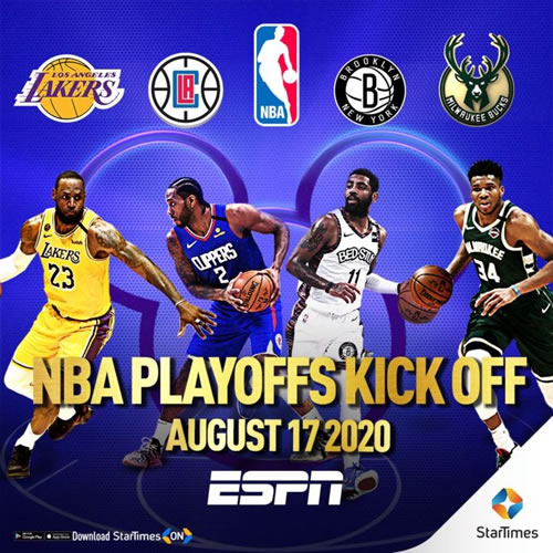 StarTimes to air 2020 NBA playoffs on ESPN