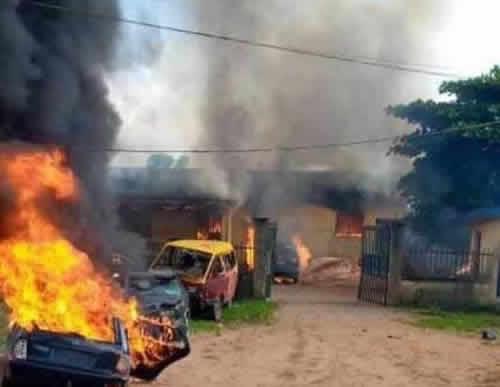 #EndSARS: Protesters burn down two police stations in Benin