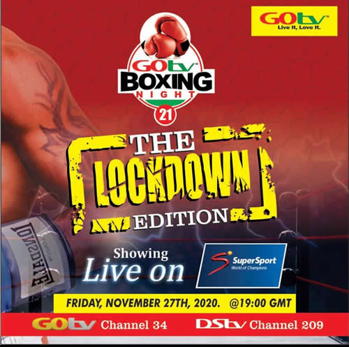 GOtv Boxing Night 21 To Air Live on SuperSport Select 2