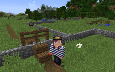 Stiles in Minecraft (or how to get over fences without animals following).