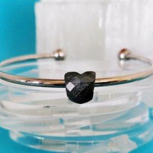 Sterling Silver Keepsake Hara Mini Bead - Faceted Heart