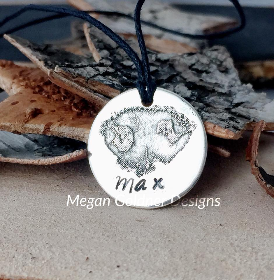 Sterling Silver Nose Print Coin Necklace