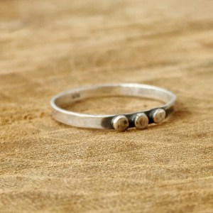 Sterling Silver Triple Dot Ring
