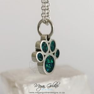 Sterling Silver Keepsake Paw Print Necklace