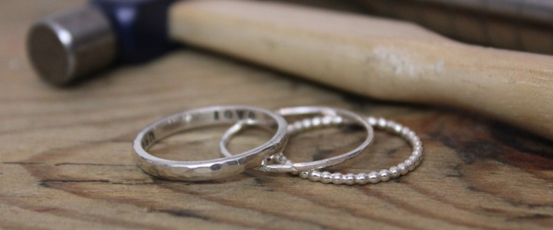 Stack Rings and hammer