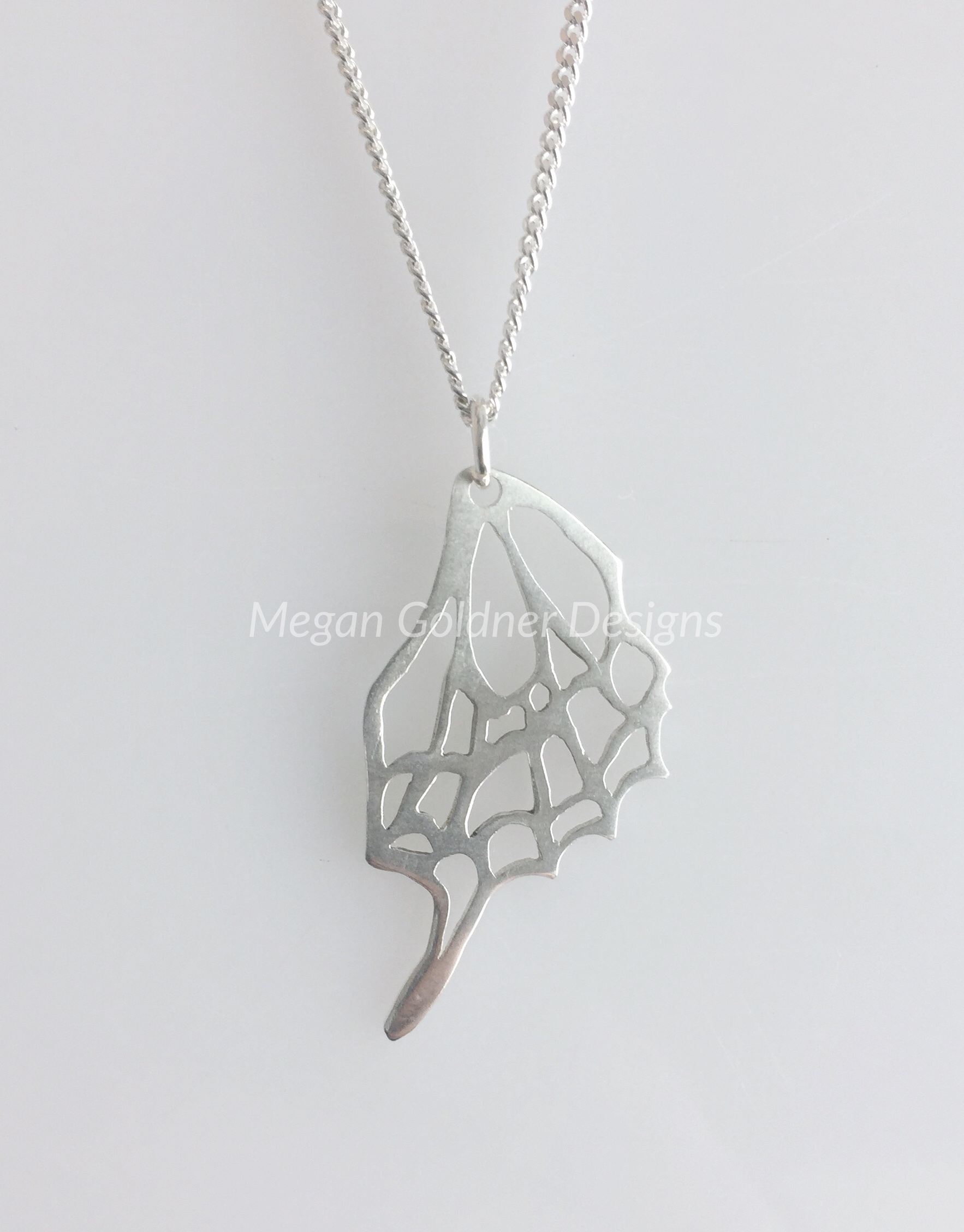 Sterling Silver Butterfly Wing