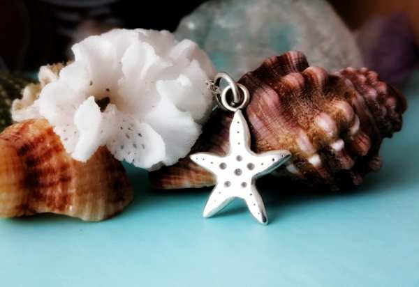 Sterling Silver Dainty Starfish Necklace