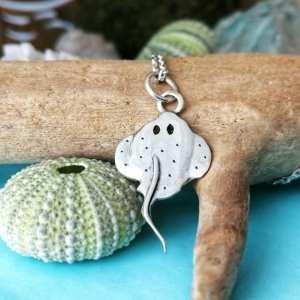Sterling Silver Dainty Stingray Necklace