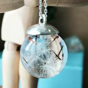 Sterling Silver Dandelion Necklace