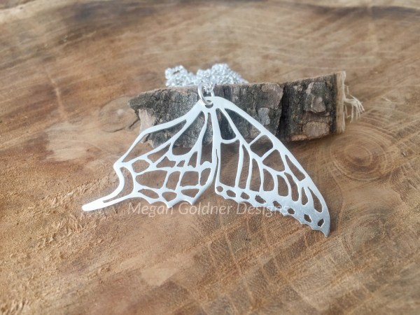 Sterling Silver Double Butterfly Wing
