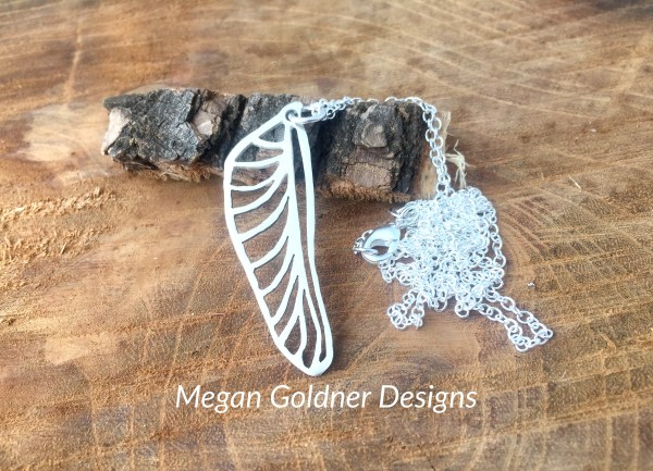 Sterling Silver Dragonfly Wing