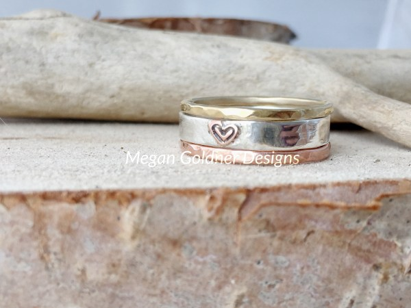 Sterling Silver Rustic Mini Stack Rings