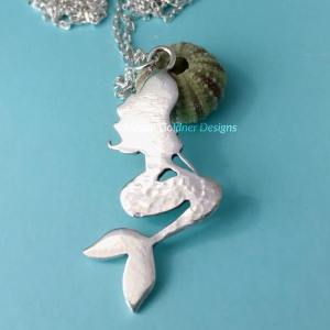 Sterling Silver Sitting Mermaid Necklace