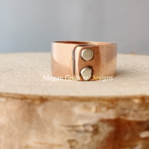 Copper Wide Rivet Ring