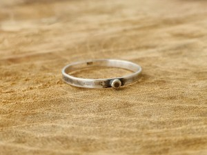 Sterling Silver Single Dot Ring