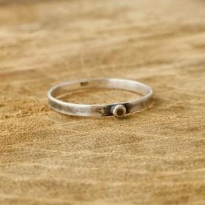 Sterling Silver Single Dot Ring
