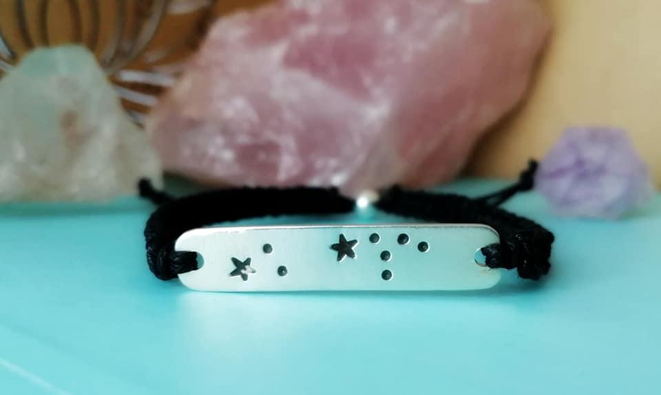 Sterling Silver Star Sign Cotton Bar Bracelet