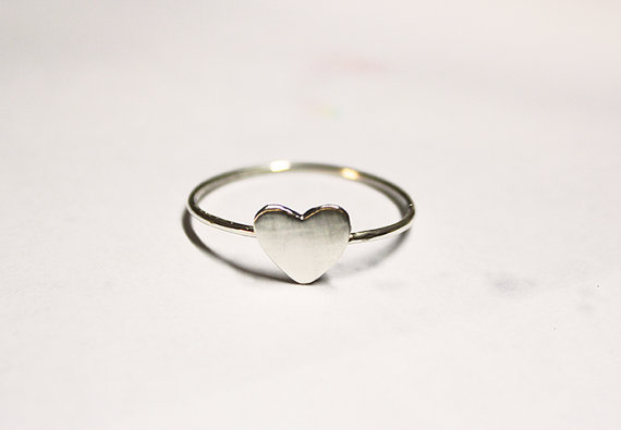 Sterling Silver Tiny Heart Ring