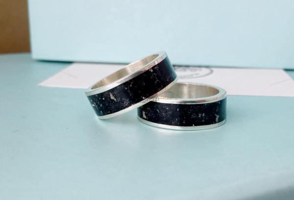 Sterling Silver Keepsake Wide Inlay Ring